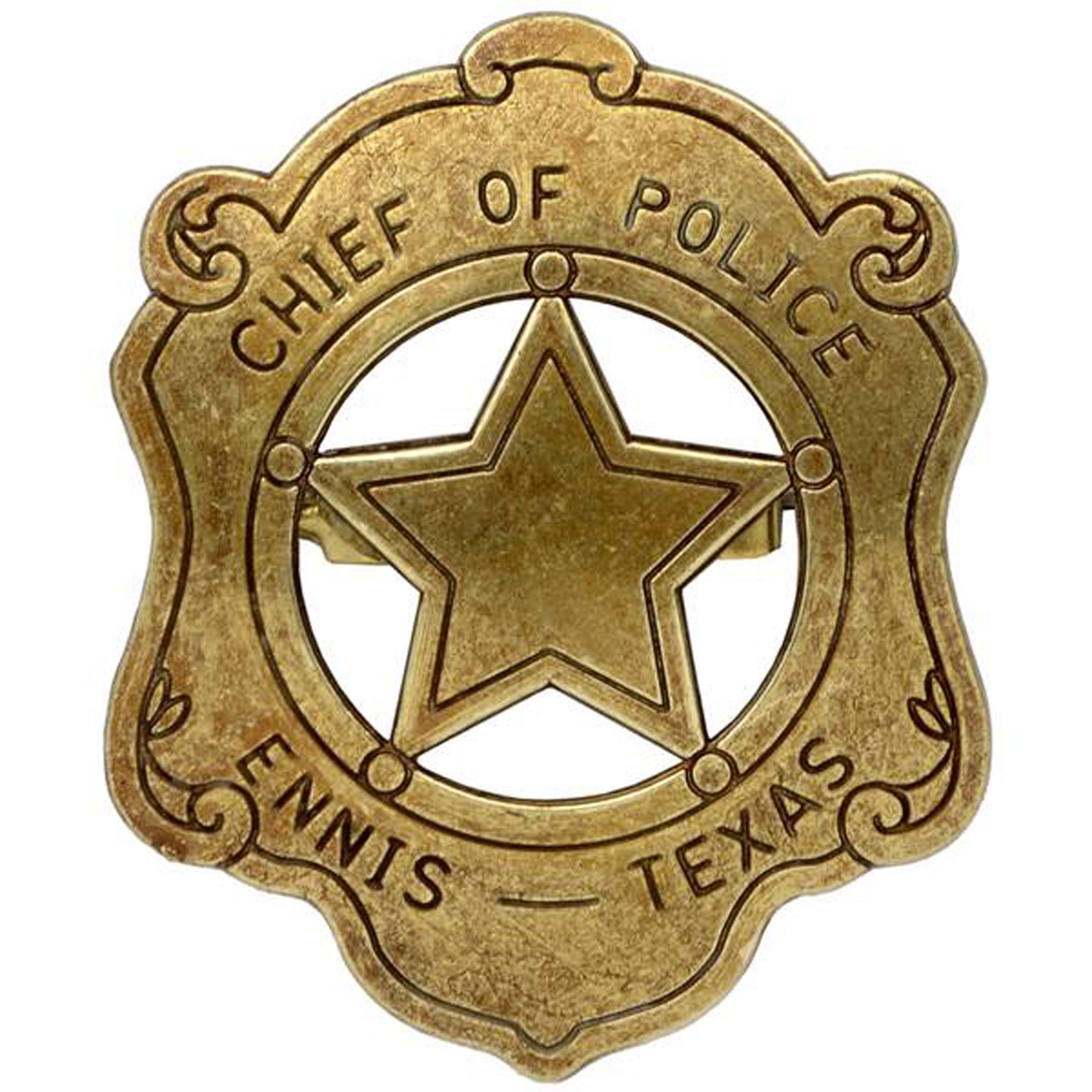 chief of police badge ennis texas