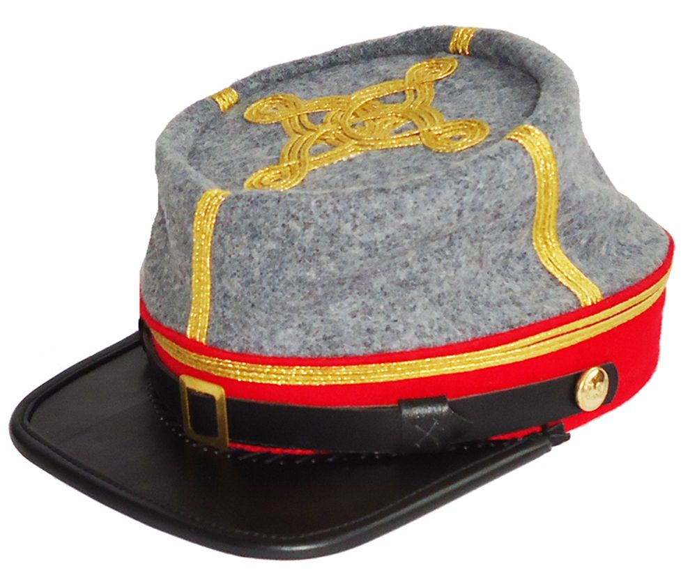 US Civil War Union Artillery  Leather Peak  Kepi