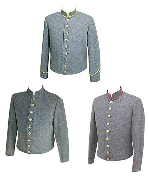 Confederate Shell Jacket With Piping